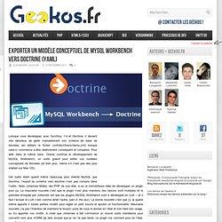 Exporter un schéma MySQL Workbench vers Doctrine (YAML)