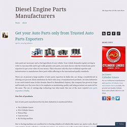 Get your Auto Parts only from Trusted Auto Parts Exporters