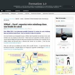 XMind – Excel : exportez votre mindmap dans une feuille de calcul