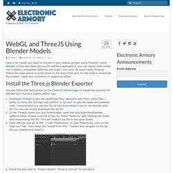 Exporting Blender Models to ThreeJS and WebGL