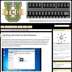 Exporting a data sheet from Smart Response » Classroom21#.TrmxZ1jgIq8.twitter