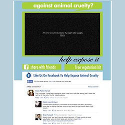 Expose Animal Cruelty