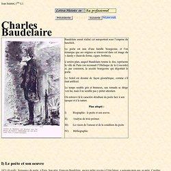 Exposé sur Baudelaire, biographie, Fleurs du Mal