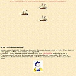 Exposé sur Christophe Colomb rédigé par les CE1/CE2