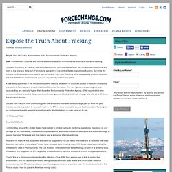 Expose the Truth About Fracking