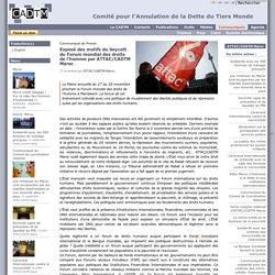 Exposé des motifs du boycott du Forum mondial des droits de l'homme par ATTAC/CADTM Maroc