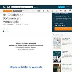 Trabajo de Exposicioc de Calidad de Software en Venezuela