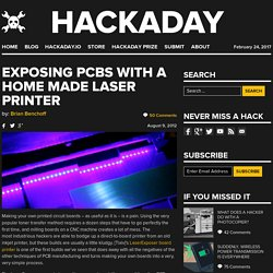 Exposing PCBs with a home made laser printer