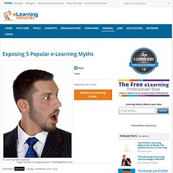 Exposing 5 Popular e-Learning Myths