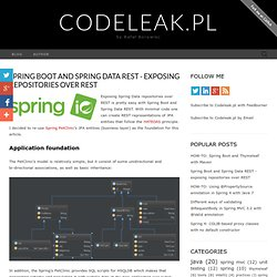 Spring Boot and Spring Data REST - exposing repositories over REST ~ Codeleak.pl