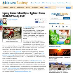 Exposing RoundUp and Glyphosate: Humans are not 'RoundUp Ready'