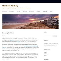 Exposing for Stars | Star Circle Academy