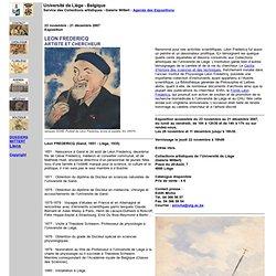 LEON FREDERICQ ARTISTE ET CHERCHEUR