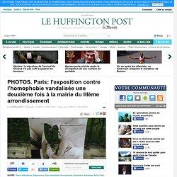 Paris: l'exposition contre l'homophobie vandalisée une deuxième fois à la mairie du IIIème arrondissement