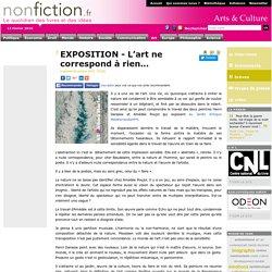 EXPOSITION - L'art ne correspond à rien…