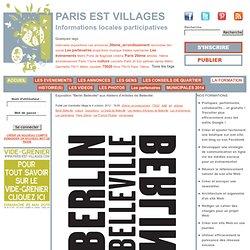 """Exposition """"Berlin Belleville"""" aux Ateliers d'Artistes de Belleville"""