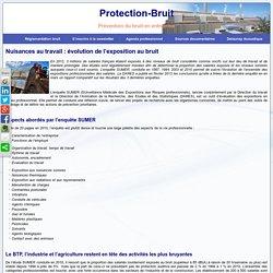 Nuisances au travail : évolution de l'exposition au bruit - Protection-BruitProtection-Bruit