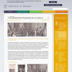 """Exposition """"La condition féminine au 19e siècle"""""""