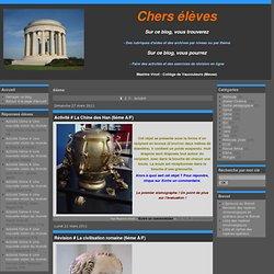 6ème - Activité # La Chine… - Révision # La… - Activité # César Vs… - Exposition #… - Conférence # Le… - histoire-geographie-education-civique-maxime-vinot