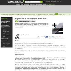 Exposition et correction d'exposition