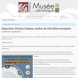 Exposition Charles Catteau, maître de l'Art Déco européen