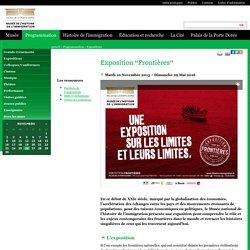 """Exposition """"Frontières"""" au Musée national de l'histoire de l'immigration"""