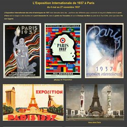 L'Exposition Internationale de 1937 à Paris