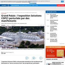Grand Palais : l'exposition Solutions COP21 perturbée par des manifestants
