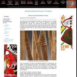 Exposition Bambous kanak - Marguerite Lobsiger-Dellenbach - Musée Nouvelle-Calédonie Nouméa