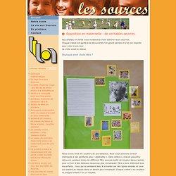 Ecole Les Sources: Exposition en maternelle : de véritables oeuvres.