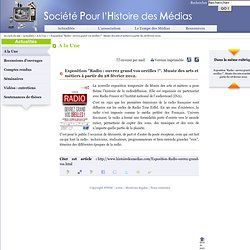 """Exposition """"Radio : ouvrez grand vos oreilles !"""". Musée des arts et métiers à partir du 28 février 2012."""