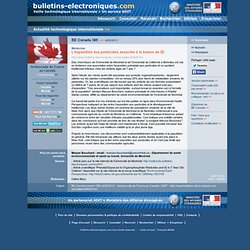 05/04> BE Canada385> L'exposition aux pesticides associée à la baisse de QI