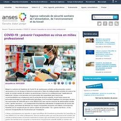 COVID-19 : prévenir l'exposition au virus en milieu professionnel