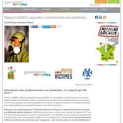Rapport ANSES: exposition professionnels aux pesticides