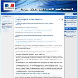 Exposition du public aux radiofréquences - Dossiers FAQ - Site Radiofréquences