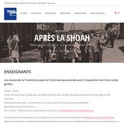 Exposition Après la Shoah. Rescapés, réfugiés, survivants. 1944-1947