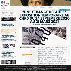 """""""Une étrange défaite? """" Exposition temporaire au CHRD du 24 septembre 2020 au 21 mars 2021"""