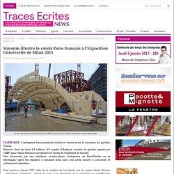 Simonin illustre le savoir-faire français à l'Exposition Universelle de Milan 2015