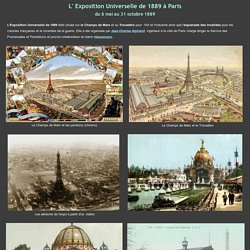 L' Exposition Universelle de 1889 à Paris