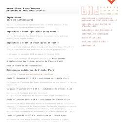 Expositions & conférences - Ecole d'art de Digne