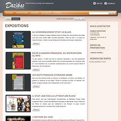 Expositions à louer – catalogue expositions culturelles: musique, littérature, livre, langue « Dazibao Expositions