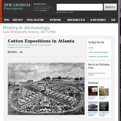 Cotton Expositions in Atlanta