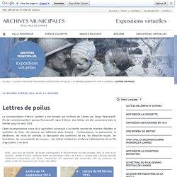 Lettres de poilus - Expositions virtuelles historiques des Archives de la ville de Cannes