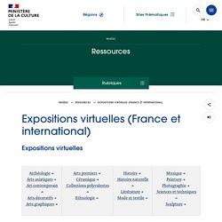 Expositions virtuelles (France et international)