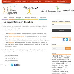 Nos expositions en location – l'institut EgaliGone