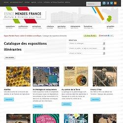 Catalogue des expositions itinérantes