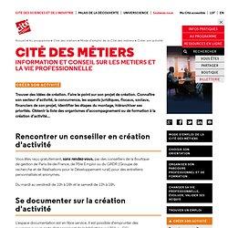 Créer son activité - Mode d'emploi de la Cité des métiers