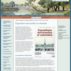 Expositions universelles et coloniales