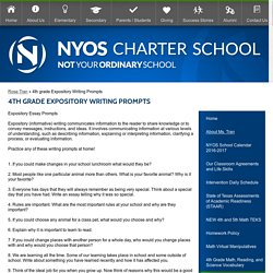 4th grade Expository Writing Prompts – Rose Tran – NYOS Charter School