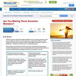 Sun Exposure: Benefits Beyond Vitamin D Production
